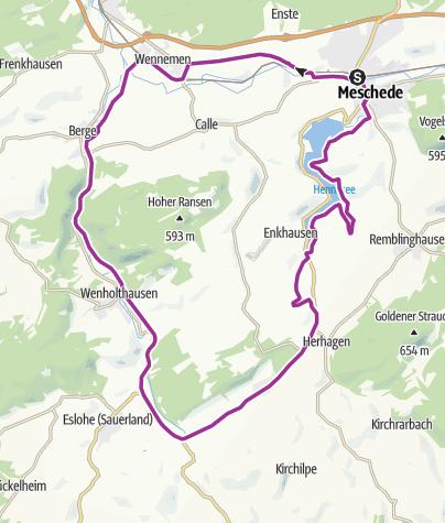 Karte / SauerlandRadring: HenneseeSchleife
