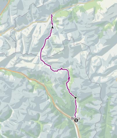 Cartina / Itinerary Blenio - Lucomagno