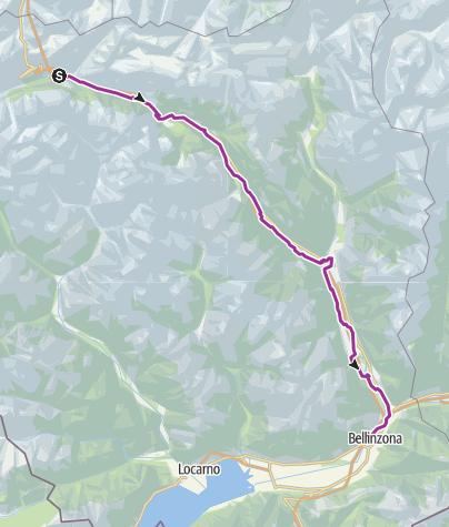 Cartina / North-South Route: Airolo-Bellinzona