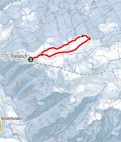Map / Mini Schneeschuhtour Vorderstels