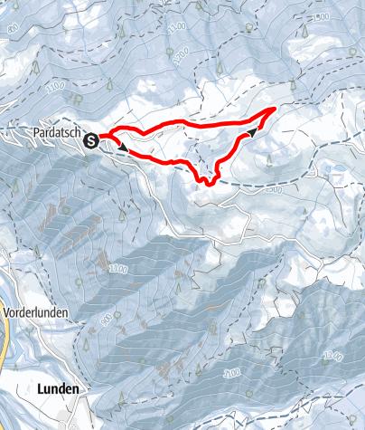Map / Schneeschuhtour Vorderstels
