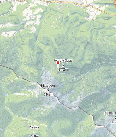Karte / Bertahütte mit Nordgrat des Mittagskogels