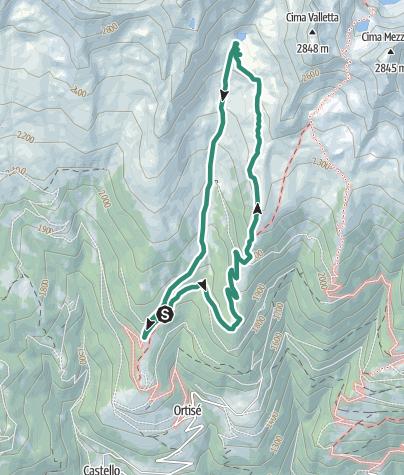 Map / Laghetto di Ortisé