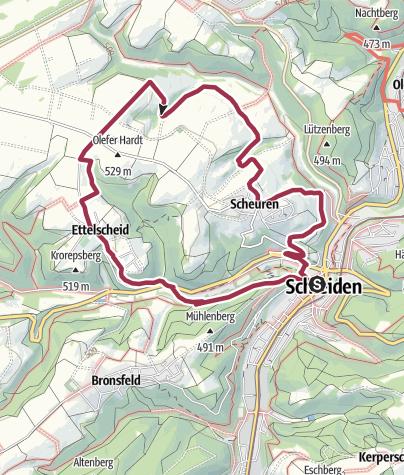 Kaart / Nordeifel: Höhen-Tour (21) Schleiden