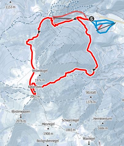 Karte / Schneeberg - Breite Ries