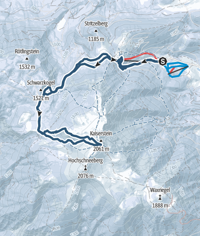 Map / Schneeberg - Wurzengraben