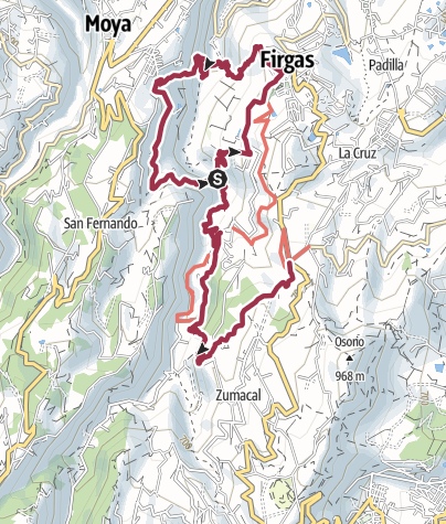 Map / Firgas to Meson Los Chorros (DAY 3 Replacement walk)