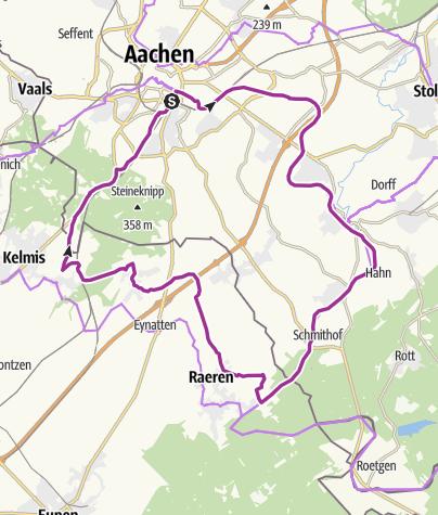 Karte / Töpfer-Route - Über die Vennbahn zu den Töpfern nach Raeren
