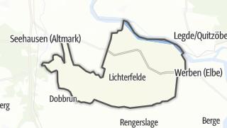 Mapa / Altmärkische Wische