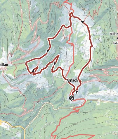 Karte / Wandern in Arriach - Am Arriacher Hofwanderweg zu den schönsten Bauernhöfen