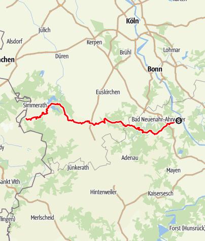 Karte / Ahr-Venn-Weg (11) - Gesamtverlauf