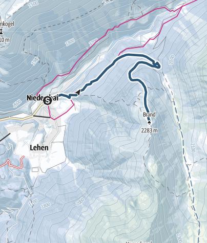 Map / Brand - Grastal - Umhausen-Niederthai
