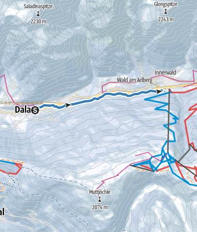 Karte / Langlaufloipe Alfenz   Dalaas