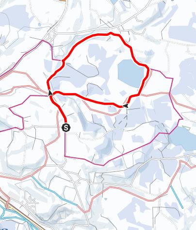 Karte / Winterwanderung um den Attlesee
