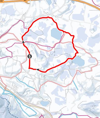 Karte / Winterwanderung zum Attlesee und Kögelweiher