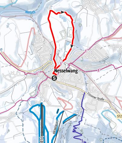 Karte / Winterwanderung zur Hammerschmiede