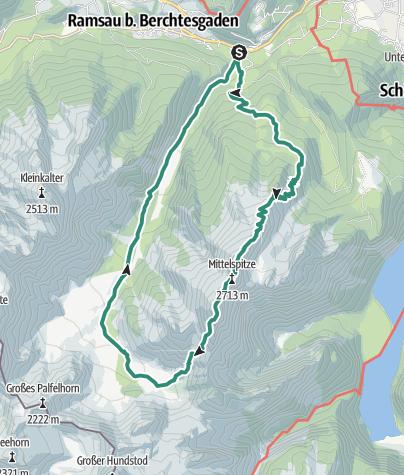Karte / Watzmann-Überschreitung