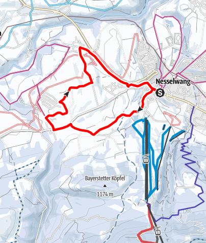 Karte / Winterwanderung Bayerstetten - Reichenbach - Hörich - Gschwend