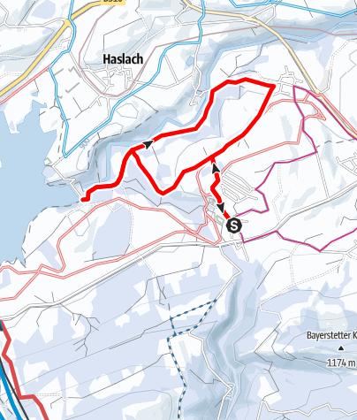 Karte / Winterwanderung von Reichenbach ins Wertachtal