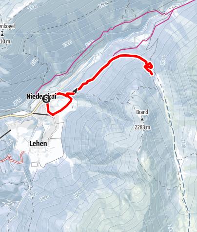 Map / Grastal - Jagdhütte - Umhausen-Niederthai