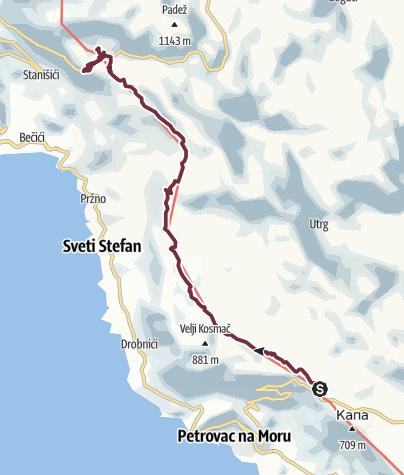 Map / Lovački dom - Brajici (Via Dinarica day 182) | Blue Trail in Montenegro | PPT stage 4