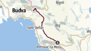 Map / Lovački dom - Brajici (Via Dinarica day 182)   Blue Trail in Montenegro   PPT stage 4