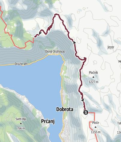 Mapa / Velji Zalazi - Sveti Andrija (Via Dinarica day 185) | Blue Trail in Montenegro | PPT stage 7