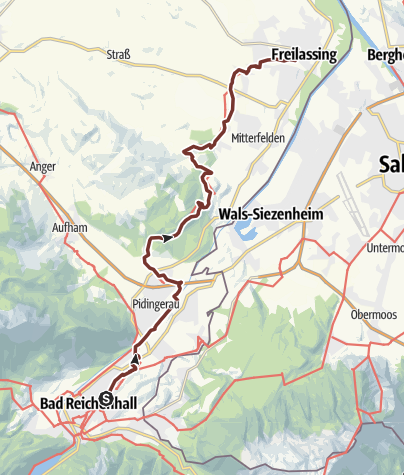 Karte / St. Rupert Pilgerweg Etappe 07: Bad Reichenhall-Freilassing (Salzburg)