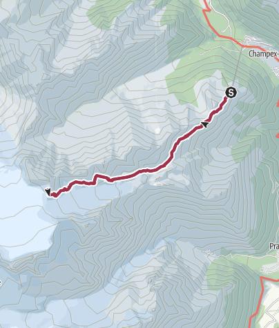 Carte / Cabanes d'Orny et du Trient