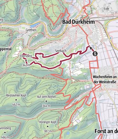 Karte / Bad Dürkheim - Türme und Klöster zwischen Wein und Wald