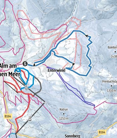 Karte / Möserloipe Variante 1 - klassisch
