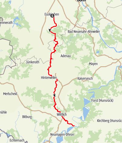 Karte / Erft-Lieser-Mosel-Weg (3) - Gesamtverlauf