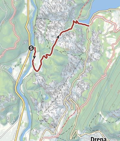Cartina / Percorso della Centrale idroelettrica di Fies