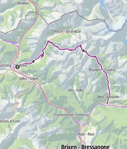 Map / Al Passo di Fundres/Zum Pfunderer Joch