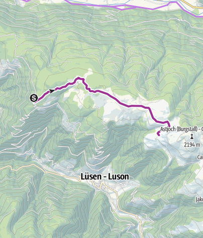 Map / Bike tour on the Rodengo and Luson Alps