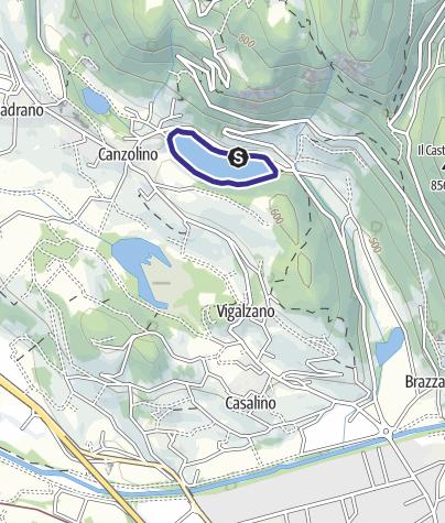 Mappa / Lago di Canzolino PS