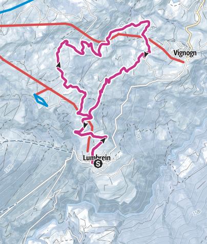 Karte / Rundwanderung Lumbrein