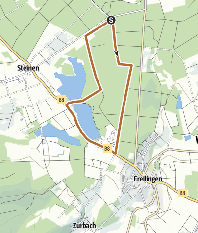 """Karte / Nordic-Walking-Tour Selters """"Postweiherrunde"""""""