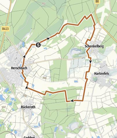 "Karte / Nordic-Walking-Tour Selters ""Laurentiusweg"""
