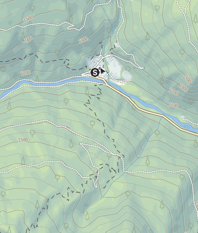 Map / Rifugio Refavaie (Caoria) PS
