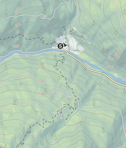 Map / Rifugio Refavaie (Caoria) PS