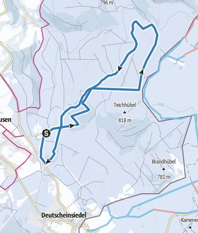 Karte / Schwartenbergloipe - grün - 10 km