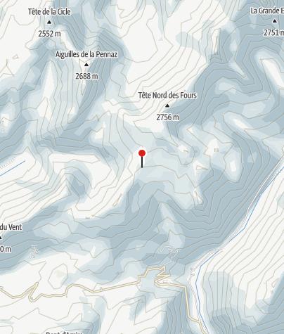 Karte / Refuge de la Croix du Bonhomme