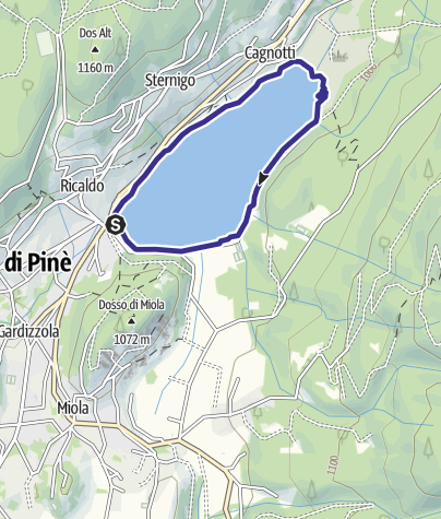 Karte / Lago di Serraia