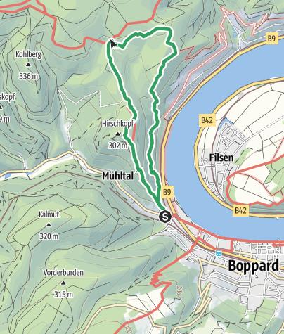 Mittelrheintal Karte.Mittelrhein Klettersteig Boppard Klettersteig