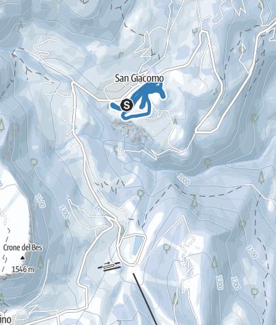 Cartina / Centro Fondo S. Giacomo - Pista S. Giacomo