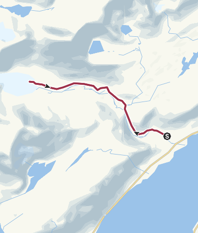 Map / Hike to Steindalsbreen glacier