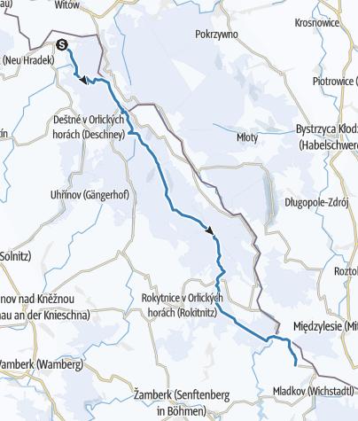 Karte / Loipenring Jirásek durch das Adlergebirge
