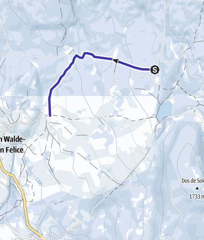 Cartina / Discesa in slitta da Malga San Felice