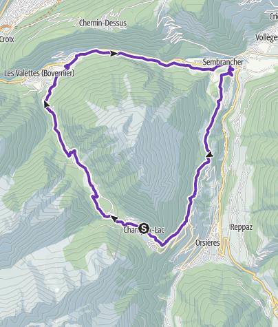 Carte / Tour du Catogne